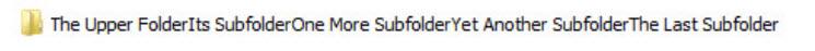 The Upper FolderIts SubfolderOne More SubfolderYet Another SubfolderThe Last Subfolder 2