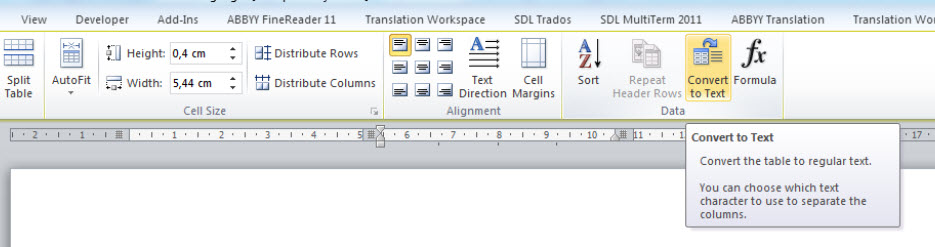 How to Convert a Table into Text in Microsoft Word