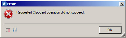 "How to get rid of the ""Requested Clipboard operation did not succeed"" error in Trados Studio"