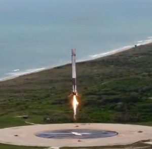 SpaceX CRS-19 Mission - Landing burn
